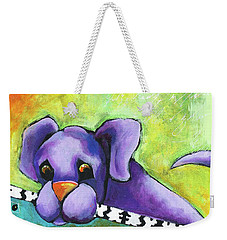 Purple Pup Weekender Tote Bag