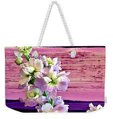 Purple Purple Everywhere Weekender Tote Bag by Marsha Heiken