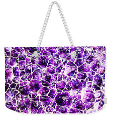 Weekender Tote Bag featuring the photograph Purple Quartz by Greg Collins
