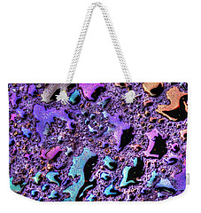 Weekender Tote Bag featuring the photograph Purple Rain by Paul Wear