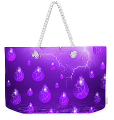 Weekender Tote Bag featuring the photograph Purple Rain by Shane Bechler