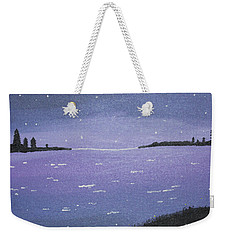 Purple Skies Weekender Tote Bag by Cyrionna The Cyerial Artist