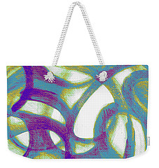 Weekender Tote Bag featuring the mixed media Purple Soul by Lucia Sirna