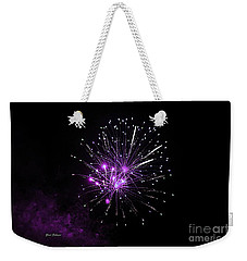 Weekender Tote Bag featuring the photograph Purple Sparkle In The Sky by Yumi Johnson