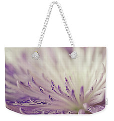 Purple Spider Mum Macro Weekender Tote Bag