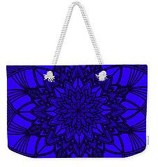 Weekender Tote Bag featuring the digital art Purple Spiritual by Lucia Sirna