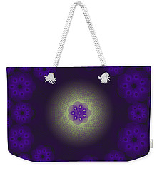 Purple Spirograph Design Weekender Tote Bag