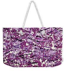 Purple Splatter Weekender Tote Bag