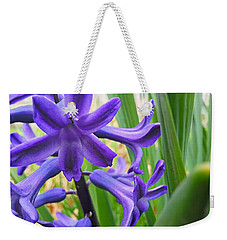 Weekender Tote Bag featuring the photograph Purple Spring by Robert Knight