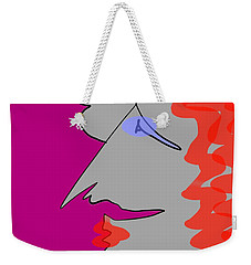 Purple Stache Weekender Tote Bag