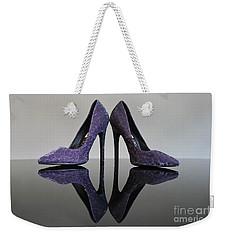 Purple Stiletto Shoes Weekender Tote Bag by Terri Waters