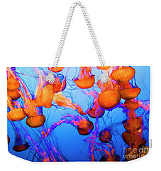 Purple Striped Jelly Fish I  Weekender Tote Bag