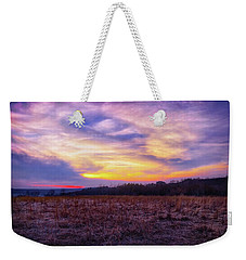 Weekender Tote Bag featuring the photograph Purple Sunset At Retzer Nature Center by Jennifer Rondinelli Reilly - Fine Art Photography