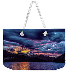 Purple Sunset At Summit Cove Weekender Tote Bag