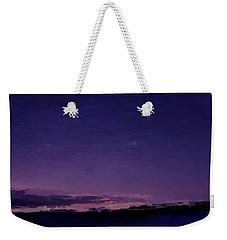Purple Sunset Over Beach  Weekender Tote Bag