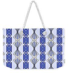 Purple Tanzanite Deco Stripe Weekender Tote Bag by MM Anderson