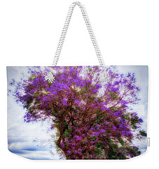Weekender Tote Bag featuring the photograph Purple Tree  ... by Chuck Caramella