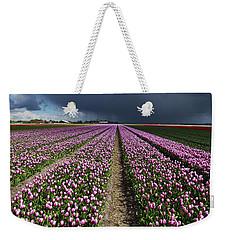 Purple Tulips Field Weekender Tote Bag