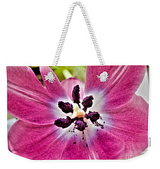 Purple Tulip Weekender Tote Bag by Nina Ficur Feenan