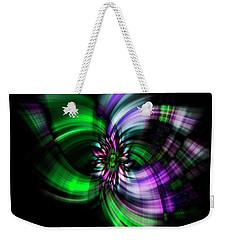 Purple Twirl Weekender Tote Bag