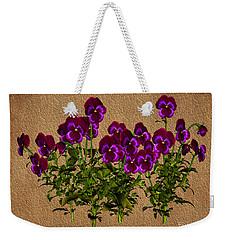 Weekender Tote Bag featuring the digital art Purple Violets by Smilin Eyes  Treasures