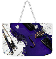 Purple Violin And Music V Weekender Tote Bag
