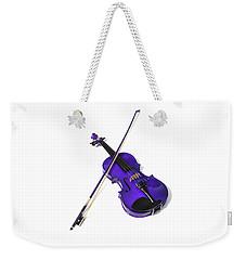 Purple Violin Weekender Tote Bag