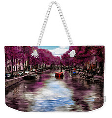 Purple Water Weekender Tote Bag