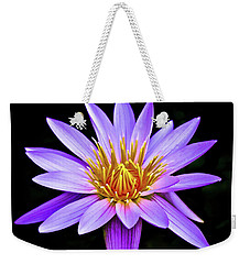 Purple Waterlily With Golden Heart Weekender Tote Bag by Venetia Featherstone-Witty