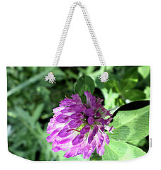 Purple Wild Flower Weekender Tote Bag