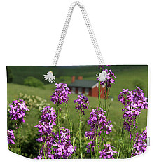 Purple Wild Flowers On Field Weekender Tote Bag