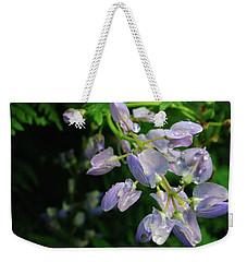 Weekender Tote Bag featuring the photograph Purple Wildflower by Tikvah's Hope