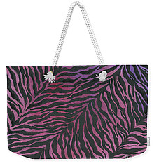 Purple Zebra  Weekender Tote Bag