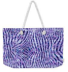 Purple Zebra Print Weekender Tote Bag