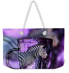 Purple Zebra Weekender Tote Bag