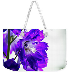 Weekender Tote Bag featuring the photograph Purpled by David Sutton