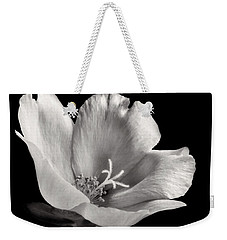 Weekender Tote Bag featuring the photograph Purslane In Monochrome by David and Carol Kelly