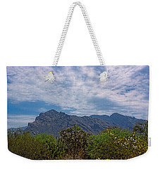 Weekender Tote Bag featuring the photograph Pusch Ridge Morning H26 by Mark Myhaver