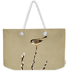 Pussy Willow And Chickadee Weekender Tote Bag