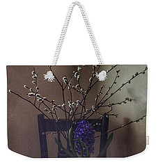 Pussy Willow And Hyacinth Still Life Weekender Tote Bag