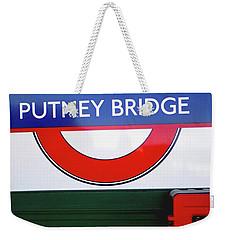 Putney Bridge Weekender Tote Bag