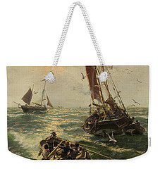 Putting The Catch Ashore Weekender Tote Bag by Thomas Rose Miles