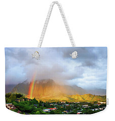 Puu Alii With Rainbow Weekender Tote Bag by Dan McManus