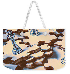 Puzzle Of Mysteries And Strategy Weekender Tote Bag