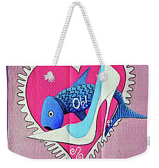 Devoted Fish Weekender Tote Bag by Don Pedro De Gracia