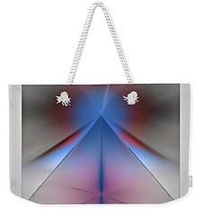 Weekender Tote Bag featuring the digital art Pyramid by John Krakora