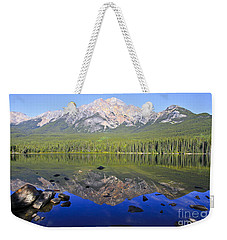 Pyramid Lake Reflection Weekender Tote Bag by Teresa Zieba