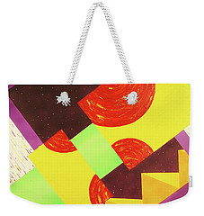 Weekender Tote Bag featuring the painting Pyramids And Pepperoni by Thomas Blood