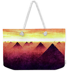 Pyramids At Sunrise Weekender Tote Bag
