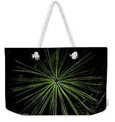 Pyrotechnics Or Pine Needles Weekender Tote Bag by Stefanie Silva